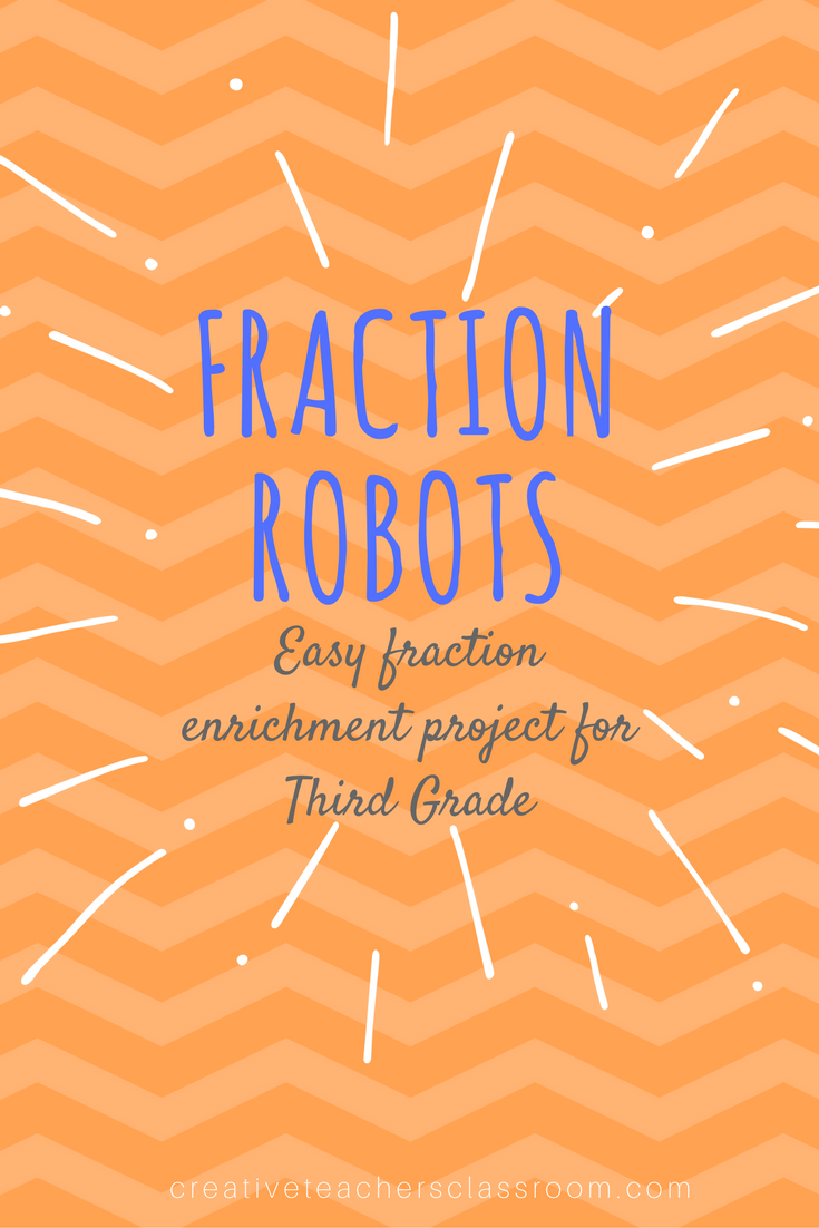 Fraction Robot – Easy Enrichment for Math – Creative Teacher\'s Classroom